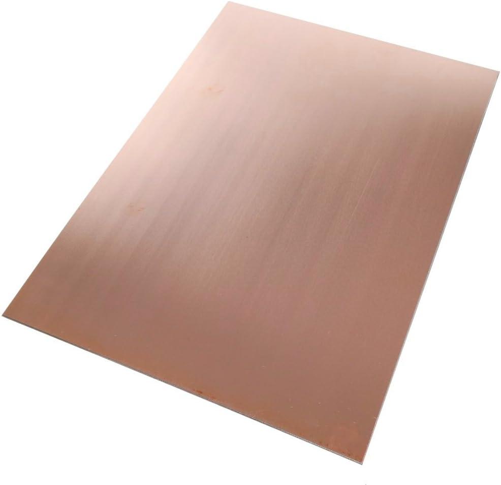 Placa Hojas de Cobre para Circuito Impreso 297//210//0.6mm 35/µm Resina epoxi de Fibra de Vidrio C40577 AERZETIX