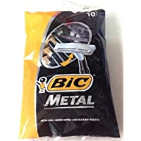 BIC Male Shavers Metal, 10 Pieces