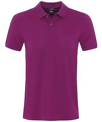 f221bc92 BOSS Hugo Boss Men's Regular Fit Pallas Polo Shirt L Dark Purple ...
