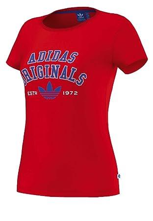 Adidas Originals Mujer Camiseta Logo Essential té, Mujer, Negro/Gris: Amazon.es: Deportes y aire libre