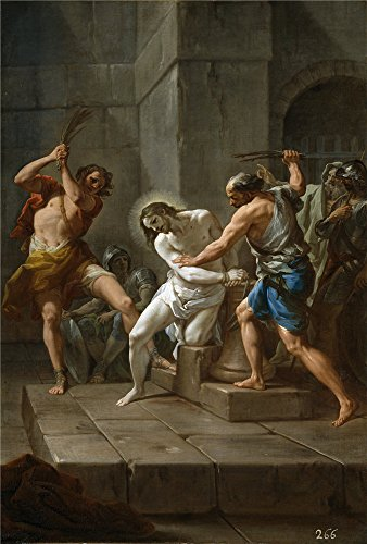 Oil Painting 'Giaquinto Corrado La Flagelacion De Cristo Ca. 1754' 24 x 36 inch / 61 x 90 cm , on High Definition HD canvas prints is for Gifts And Basement, Bath Room And Study Room decor, discount