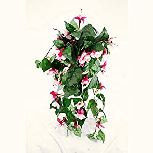 Amazon floristrywarehouse artificial silk fuchsia bush long floristrywarehouse artificial silk fuchsia bush long trailing 215 inch cerise pink mightylinksfo