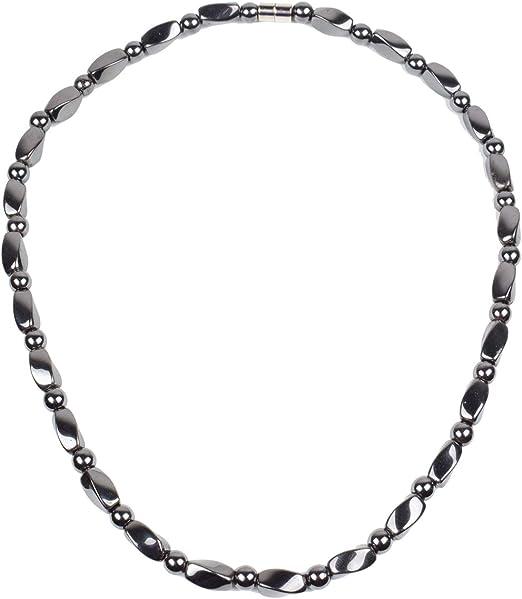 Men/'s Powerful Magnetic Hematite DRUM Bracelet Necklace 12 choices of Gemstones