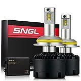 SNGL Super Bright LED Headlight Conversion Kit - Adjustable-Beam Bulbs - 9007 (HB5) High/Low Beam - 110w 12,400Lm - 6000K Bright White - 2 Yr Warranty - For Dodge Ram Jeep Chrysler GMC Silverado