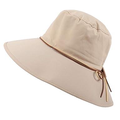 Preis bleibt stabil beste website New York Rosennie Damen Hut Kappe Faltbarer Sonnenhut aus Baumwolle ...