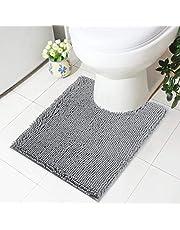 Olanly Luxury Chenille Bathroom Rugs, Bath Shower Mat Machine Wash Dry, Non Slip Absorbent Shaggy Bath Rug for Tub, Shower and Bath Room