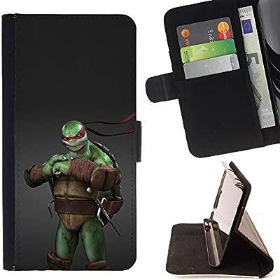 For Samsung ALPHA G850 Ninja Turtle Leather Foilo Wallet ...