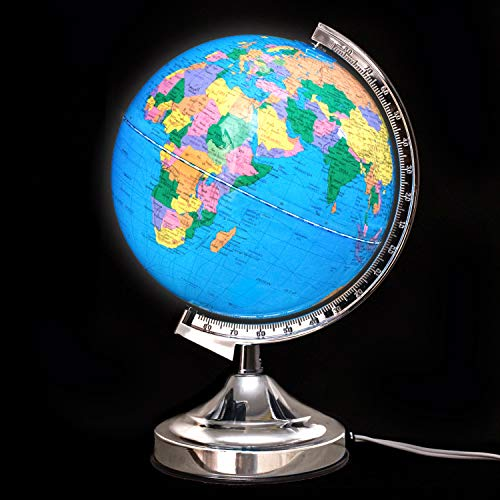 Illuminated Kids Globe with Stand – Educational Gift with Detailed World Map and LED Night Light (Power Cord Included) by Home Premium (Image #4)