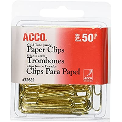acco-paper-clips-jumbo-smooth-gold