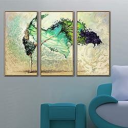 Sykdybz Pinturas Minimalista Moderno Ballet Belleza Ningún Cuadro Pinturas, Tres Dormitorios Salón Pintura Mural ,50*70Cmx3