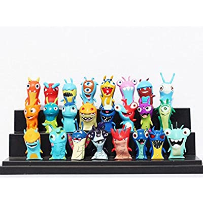 24pcs/set Anime Cartoon 4.5-5cm Mini Slugterra PVC Action Figures Toys Dolls Child Toys