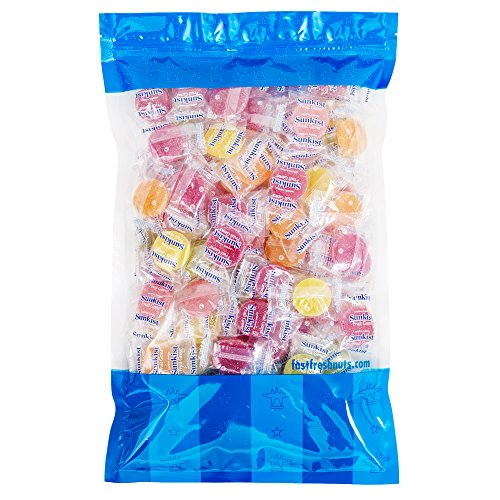 Bulk Original Sunkist Fruit Gems - 5 lbs in a Resealable Bomber Bag - Great for Candy Bowls - Wholesale - Vending Machine Refill - Holiday Candy !!!
