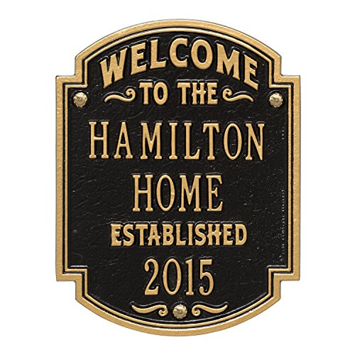 Custom Heritage WELCOME 3 Lines Anniversary Plaque 11
