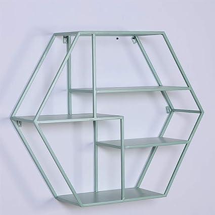 ADstore Baño Hexagonal Cubo estantería de diseño Especia ...