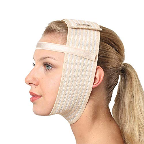 - Post Surgical Chin Strap Bandage for Women - Neck and Chin Compression Garment Wrap - Face Slimmer, Jowl Tightening, Chin Lifting Medical Anti Aging Mask