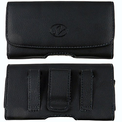 BLU Studio 5.5 S/Dash 5.5/Vivo XL Horizontal Premium Leather Carrying Case Pouch Holster with Magnetic Closure Belt Clip & Belt Loop -  eBuy, 4326518910