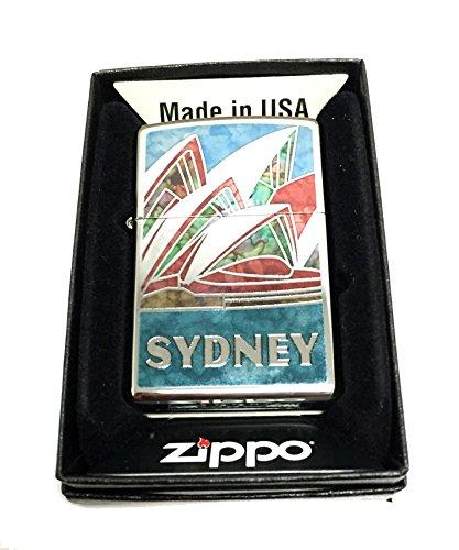 Zippo Custom Lighter - Austrailia Sydney Opera House Fuzion Mosaic - Regular High Polished Chrome
