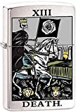 "Zippo ""Tarot Card-Death XIII"" Brushed Chrome Lighter, 1729"