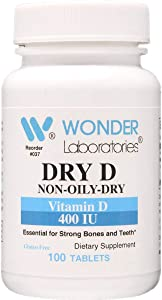 400 IU Vitamin D3, 100% of The Daily Recommended Value for Vitamin D as Cholecalciferol