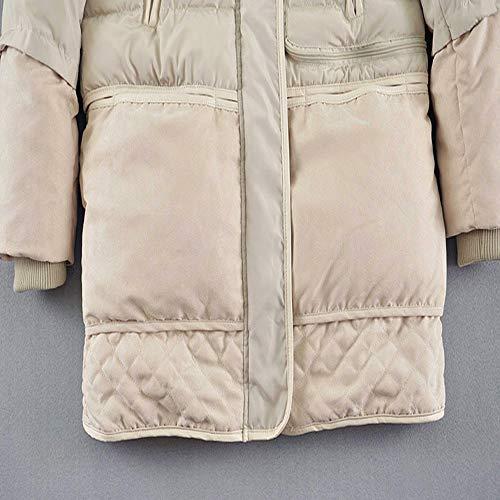 Fxchen Plus Slim Da Imbottito Parka Inverno Donna Giacche Di Size Clothing Con Lungo Cappuccio Cappotto Jacket Femmina Cotone Xl Warm Outwear g6gzr