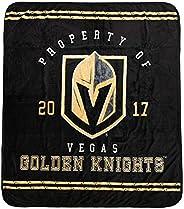 Nemcor NHL Las Vegas Knights Luxury Velour Throw Blanket, 60x70 inch