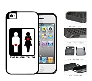 The Awful Truth Funny Movie Black and White with Red Hearts 2-Piece High Impact Dual Layer Black Silicone Cell Phone Case iPhone 4 4s