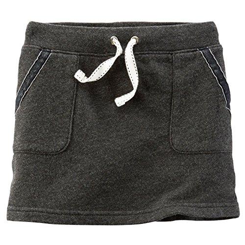 (Carter's Baby Girl's French Terry Skirt, Dark Gray, 4)