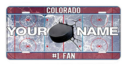BRGiftShop Personalize Your Own Hockey Team Colorado Car Vehicle 6