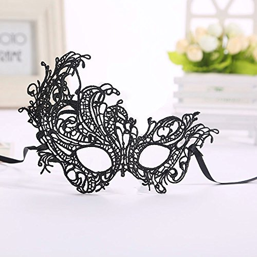Ciaoed Masquerade Ball Masks for Women With Black Lace Gloves Party Mask Adults ,Lady Girl Lace Eye Mask and Fingerless Gothic Gloves,for Prom Halloween /Christmas/Venetian Carnival Masquerade Party