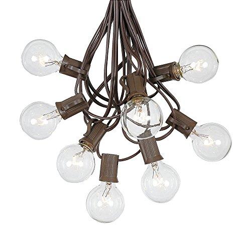 Patio String Lights Clear Globe