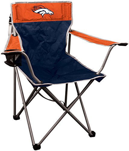 NFL Portable Canvas Folding Kickoff Chair with Cup Holder and Carrying Case (Sports Tailgate Seat)