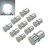 Efoxcity 12V 1156 10 Pack Bright 1156 1141 1003 50-SMD White LED Bulbs For Car Interior RV Camper light