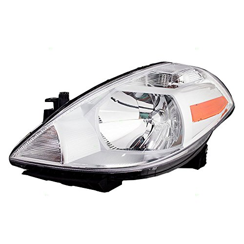 Drivers Halogen Combination Headlight Headlamp Replacement for Nissan Versa 26060-EM30A