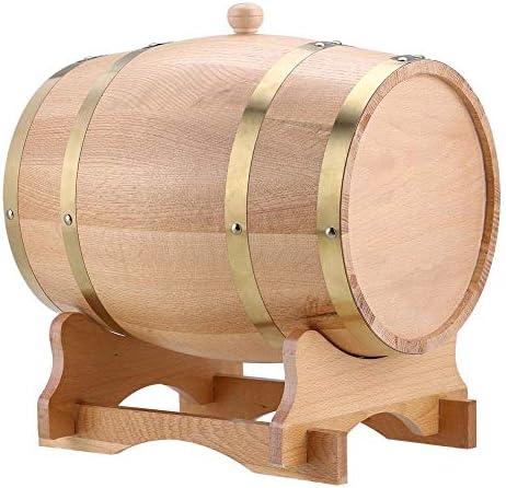 Whisky Schnaps Wein Eichenfass, 5L/10L Holzfass Weinfass Whiskyfass Eichenholz-Weinfass, Anzug für Whisky Bourbon Tequila (10L)