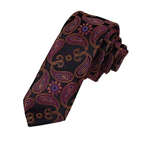 e Economics Skinny Neckwear Woven Microfiber Xmas Gift Idea Patterned Skinny Tie By Dan Smith (Xmas Necktie)