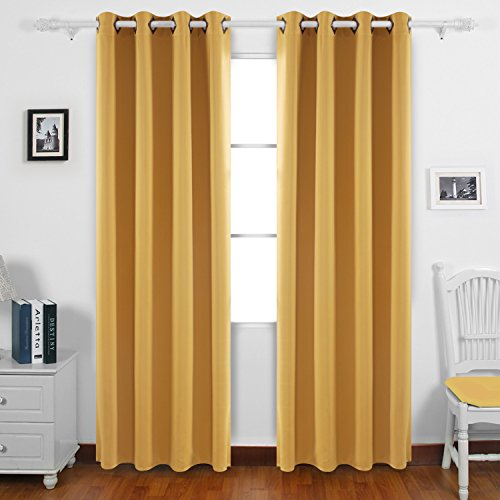 From USA Deconovo Solid Color Grommet Blackout Curtains