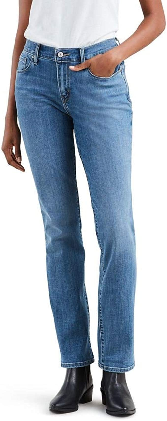 Levi's Women's Straight 505 Jeans Straight leg boot cut denim jeans | Womens Denim Fashion Jeans