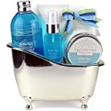 Winter in Venice Kula Spa Bath Tub - Luxurious Toiletries infused with Natural Fruit and Plant Extracts packed in a Reusable Bathroom Caddy. Award Winning and Best Selling Bath Gift Set