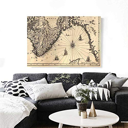 nt Wall Art Ancient Map of Southern Part of The Norway Vikings World Old Scandinavian Land Art Stickers 48