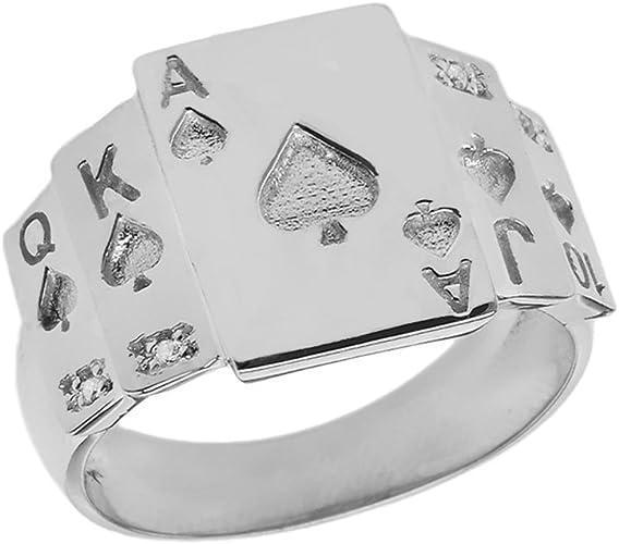 Ace of Spades Ring Men Ring Men Gift Poker Cards Biker Ring Cool Ring Spades Silver ring Ace of Spades Ring Sterling Silver Ring Biker Style