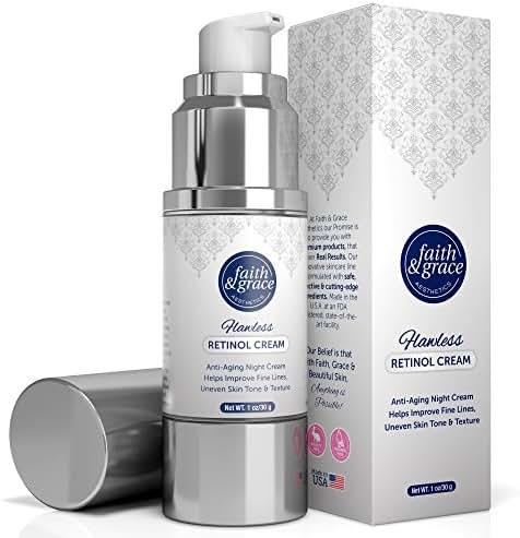 Faith & Grace Aesthetics Anti-Aging Retinol Night Cream With Amazing Anti Wrinkle & Moisturizing Properties - Advanced Formula With Encapsulated Retinol Serum For Uneven Skin Tone And Acne Scars