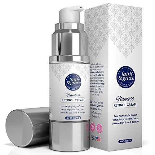 Faith Grace Aesthetics Anti-Aging Retinol Night Cream With Amazing Anti Wrinkle Moisturizing Properties – Advanced Formula With Encapsulated Retinol Serum For Uneven Skin Tone And Acne Scars