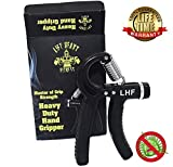 Lift Heavy Fitness Heavy Duty Hand Grippers -Hand Grip Is Anti-microbial and Guaranteed For Life Adjustable Hand Exerciser Forearm ExerciserHand Grip Strengthener Is Adjustable from 67- 164 LBS