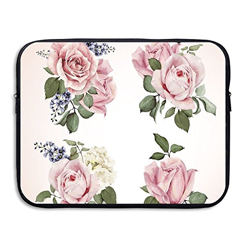 Springtime Set Of Bouquets Of Roses Bridal Flora Corsage Gentle Nature Laptop Bag Tablet Case Shockproof Spill-Resistant Waterproof 13 Inch (Shoulder Corsage)