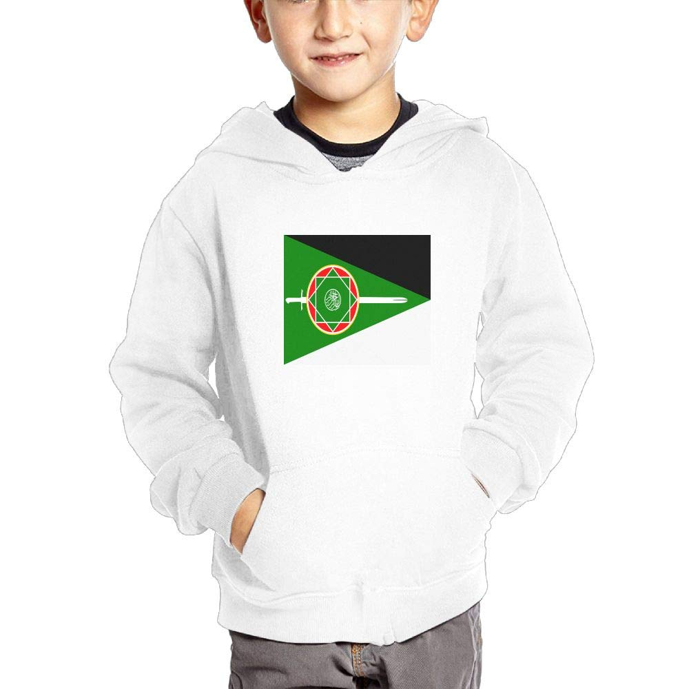 JIANGSHAN Kashmir Flag Customization Hooded Pocket Sweater for Children Spring//Autumn//Winter Outfit Long-Sleeved Hoodie