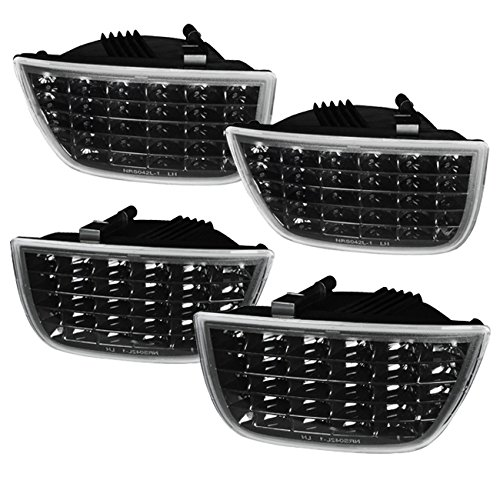 Chevrolet Camaro Tail - Chevrolet Chevy Camaro SS LT RS 4 Piece Sequential Signal Lamps LED Rear Tail Lights Light Lamps Lamp 2010 2011 2012 2013 10 11 12 13 (Black)