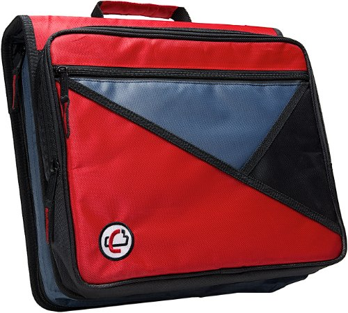 (Case-it Universal 2-Inch 3-Ring Zipper Binder, Holds 13 Inch Laptop, Red, LT-007-RED)