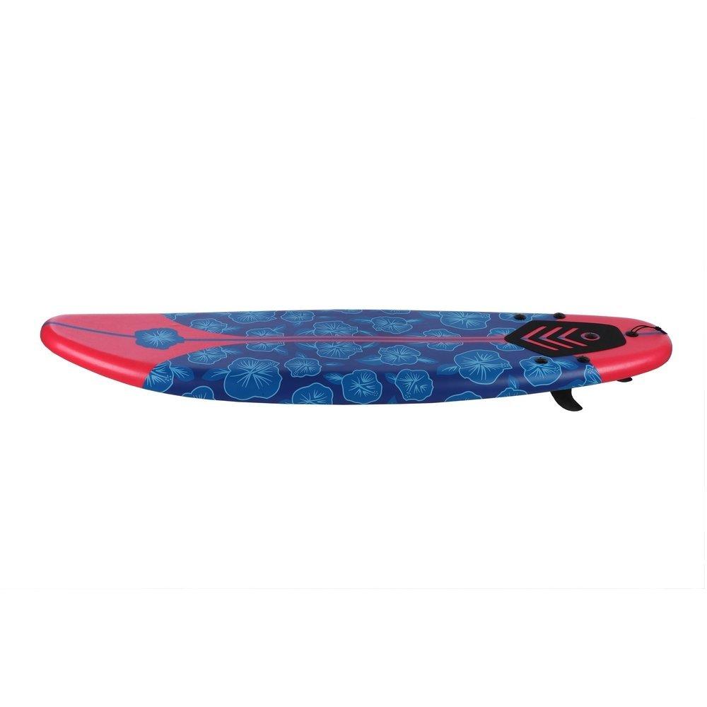 Tabla de surf de espuma, de North Gear, longboard suave para principiantes, 182 cm, rojo: Amazon.es: Deportes y aire libre