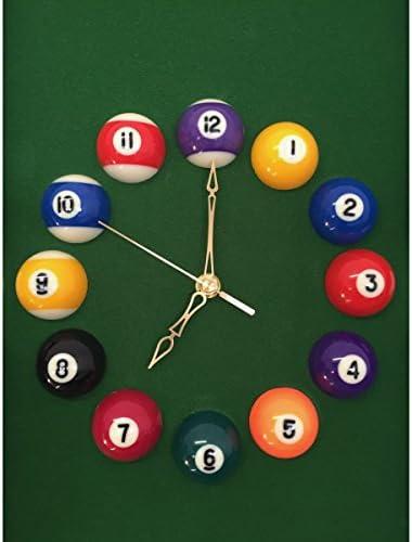 Reloj en forma de mesa de billar – horas de bolas de billar: Amazon.es: Deportes y aire libre