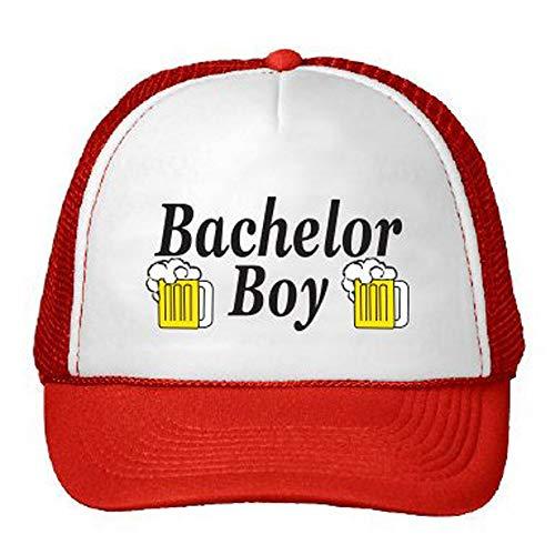 NVJUI JUFOPL Bachelor Party Groom Hat-Bachelor Party Gifts Parks and Rec Hats- Bachelor Party Accessories- Party Hats for Men ... Red